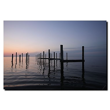 Trademark Fine Art Pier by Cary Hahn-Ready to Hang Canvas Art 18x24 Inches