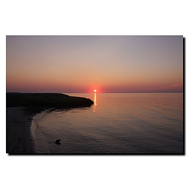 Trademark Fine Art Ruby Sunset by Cary Hahn-Canvas Art Ready to Hang 16x24 Inches