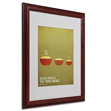 Christian Jackson 'Goldilocks' Matted Framed Art - 16x20 Inches - Wood Frame