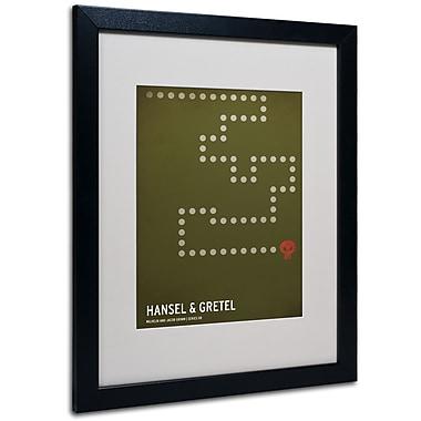 Trademark Fine Art Christian Jackson 'Hansel and Gretel' Matted Art Black Frame 16x20 Inches