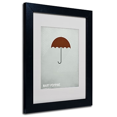 Trademark Fine Art Christian Jackson 'Marry Poppins' Matted Art Black Frame 11x14 Inches