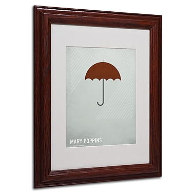 Christian Jackson 'Marry Poppins' Matted Framed Art - 11x14 Inches - Wood Frame