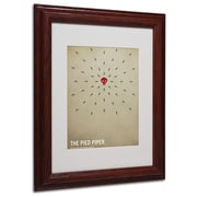 Christian Jackson 'The Pied Piper' Matted Framed Art - 11x14 Inches - Wood Frame