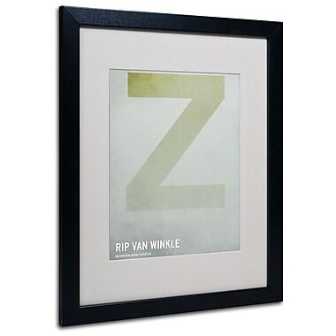 Trademark Fine Art Christian Jackson 'Rip Van Winkle' Matted Art Black Frame 16x20 Inches