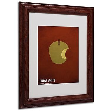 Christian Jackson 'Snow White' Matted Framed Art - 11x14 Inches - Wood Frame