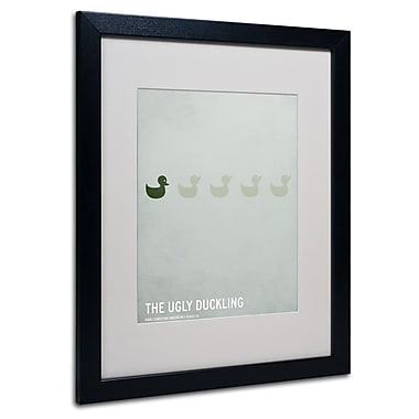 Trademark Fine Art Christian Jackson 'The Ugly Duckling' Matted Art Black Frame 16x20 Inches