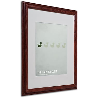 Christian Jackson 'The Ugly Duckling' Matted Framed Art - 16x20 Inches - Wood Frame