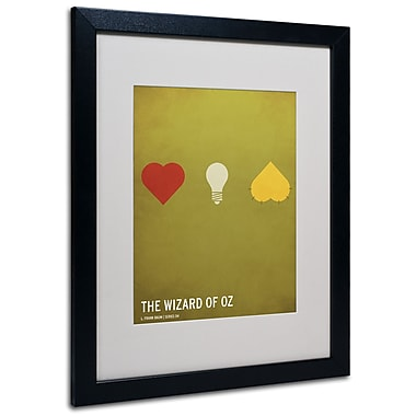 Trademark Fine Art Christian Jackson 'Wizard of Oz' Matted Art Black Frame 16x20 Inches
