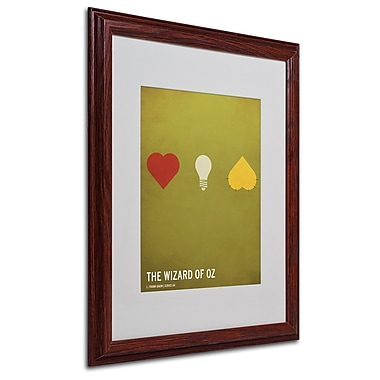 Christian Jackson 'Wizard of Oz' Matted Framed Art - 16x20 Inches - Wood Frame