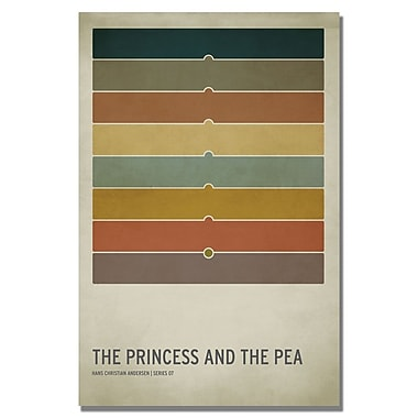 Trademark Fine Art Christian Jackson 'The Princess and the Pea' Canvas Art 24x36 Inches