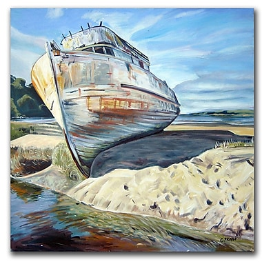 Trademark Fine Art Inverness Boat by Colleen Proppe-Canvas Ready to Hang 14x14 Inches