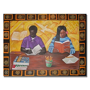 Trademark Fine Art Djibrirou Kane 'Budding Scholars' Canvas Art