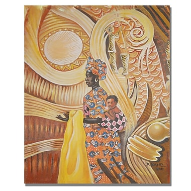 Trademark Fine Art Djibrirou Kane 'Caring and Dedicated Mom' Canvas Art