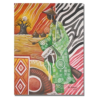 Trademark Fine Art Djibrirou Kane 'Drum Player' Canvas Art