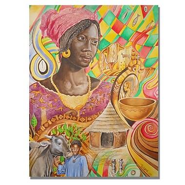 Trademark Fine Art Djibrirou Kane 'Fulani Beauty' Canvas Art