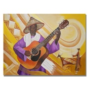 Trademark Fine Art Djibrirou Kane 'Guitarist in Traditional Attire' Canvas Art