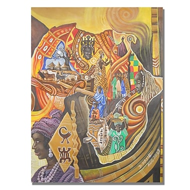 Trademark Fine Art Djibrirou Kane 'Image and Colors of Africa' Canvas Art