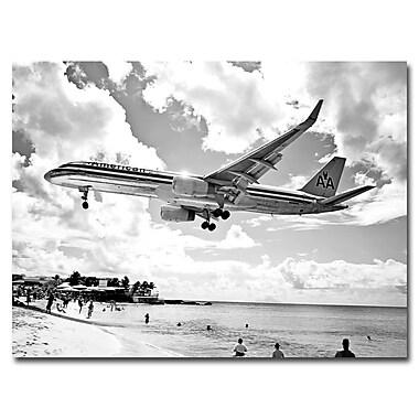Trademark Fine Art Preston 'American Airliner' Canvas Art