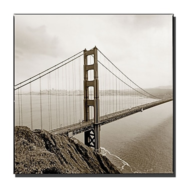 Trademark Fine Art Preston 'Golden Gate Bridge' Canvas Art 14x14 Inches