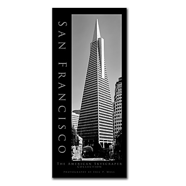 Trademark Fine Art San Francisco by Preston-Ready to Hang Art 14x32 Inches