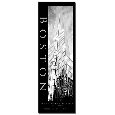 Trademark Fine Art Boston by Preston-Ready to Hang Art 14x32 Inches