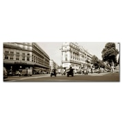 Trademark Fine Art Preston 'Parisian Intersection' Canvas Art 16x47 Inches