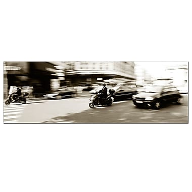 Trademark Fine Art Preston 'Parisian Rush Hour' Canvas Art 10x32 Inches