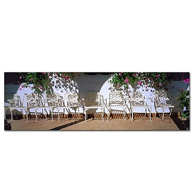 Trademark Fine Art Spanish Chairs' by Preston-Ready to Hang Art 10x32 Inches