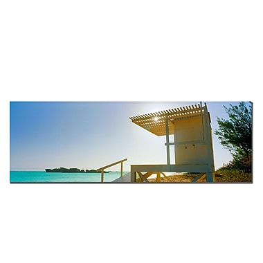 Trademark Fine Art Bermuda Lifeguard by Preston-Ready to Hang 16x48 Inches