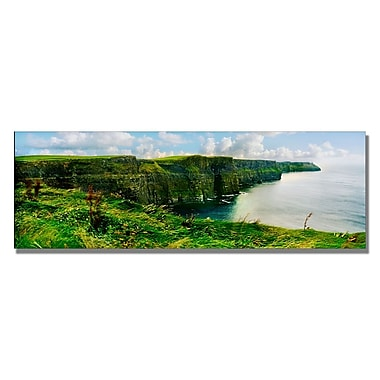 Trademark Fine Art Preston 'Cliffs of Mohr' Canvas Art 12x32 Inches