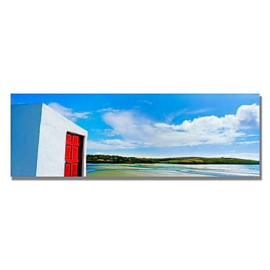 Trademark Fine Art Preston 'Ireland Door' Canvas Art 12x32 Inches