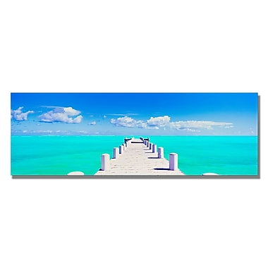 Trademark Fine Art Preston 'Turks Pier' Canvas Art 8x24 Inches