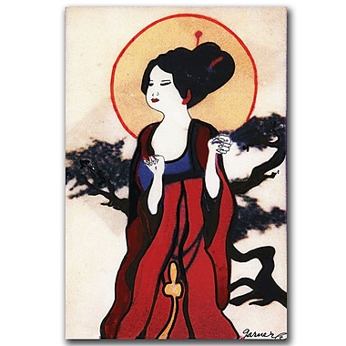 Trademark Fine Art Garner Lewis 'Japanese Woman' Canvas Art 14x24 Inches