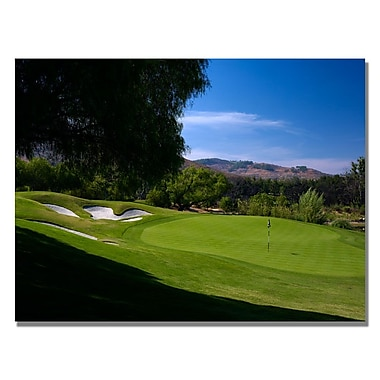 Trademark Fine Art Approaching the Green Canvas Golf Art