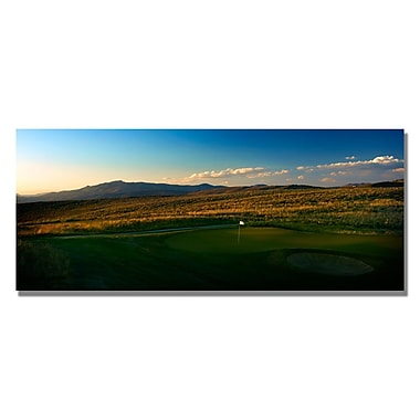 Trademark Fine Art Sunset on the Green Canvas Golf Art 16x32 Inches