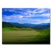 Trademark Fine Art Red Pin on the Green Canvas Golf Art 35x47 Inches