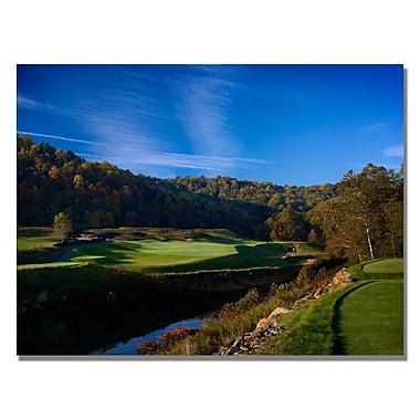Trademark Fine Art Over the River and Through the Woods Canvas Golf Art