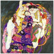 Trademark Fine Art Virgins by Gustav Klimt-20x20 Canvas Art