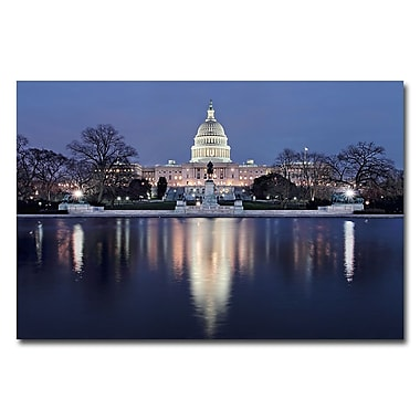 Trademark Fine Art Gregory Ohanlon 'Capitol Reflections' Canvas Art 30x47 Inches