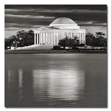 Trademark Fine Art Gary Ohanlon 'Jefferson Memorial-Night' Canvas Art 24x24 Inches