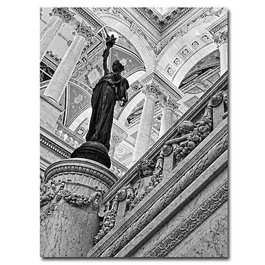 Trademark Fine Art Gregory Ohanlon 'Library of Congress-Great Hall' Canvas Art 18x24 Inches