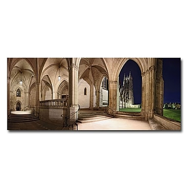 Trademark Fine Art Gregory Ohanlon 'National Cathedral ' Canvas Art 14x32 Inches
