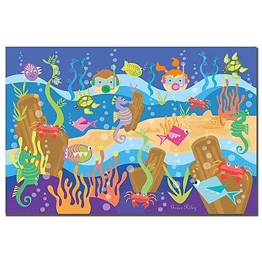 Trademark Fine Art Grace Riley 'Underwater Adventures' Canvas Art 16x24 Inches