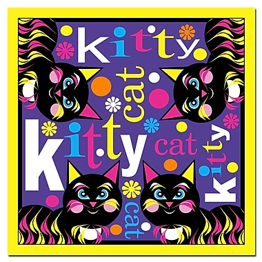 Trademark Fine Art Grace Riley 'Kitty Cat II' Canvas Art