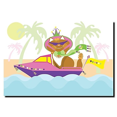 Trademark Fine Art Pretty Kitty Princess in a Boat by Grace Riley-Canvas 14x19 Inches