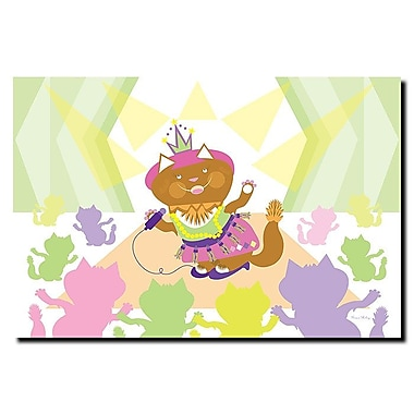 Trademark Fine Art Pretty Kitty Princess Pop Star by Grace Riley Canvas 16x24 Inches