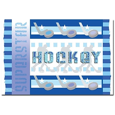 Trademark Fine Art Hockey by Grace Riley-Ready to Hang Art 14x19 Inches
