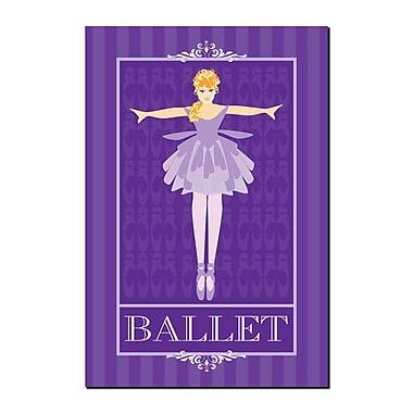 Trademark Fine Art Ballet I by Grace Riley-Gallery Wrapped Canvas 14x19 Inches