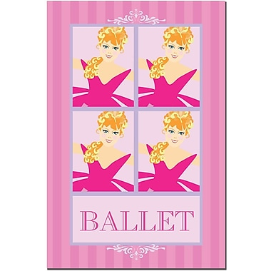 Trademark Fine Art Ballet in Pink II-Canvas Art Ready to Hang 16x24 Inches