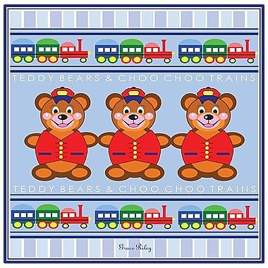Trademark Fine Art Teddy Bears & ChooChoo Trains by Grace Riley-Canvas Art 24x24 Inches